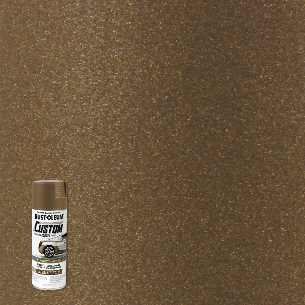 11 oz. Metallic Gold Custom Lacquer Spray Paint (6-Pack)