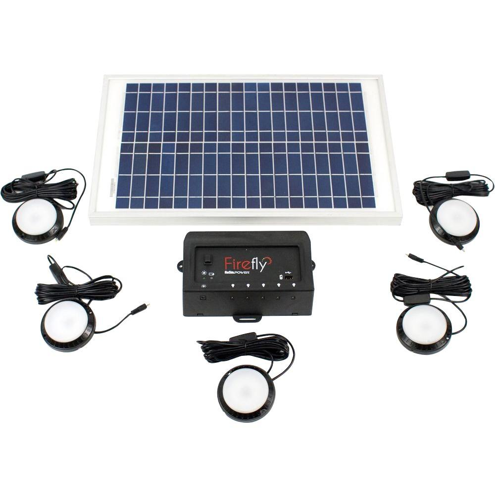 Firefly Black and White GoSol Solar Light (5-Pack)
