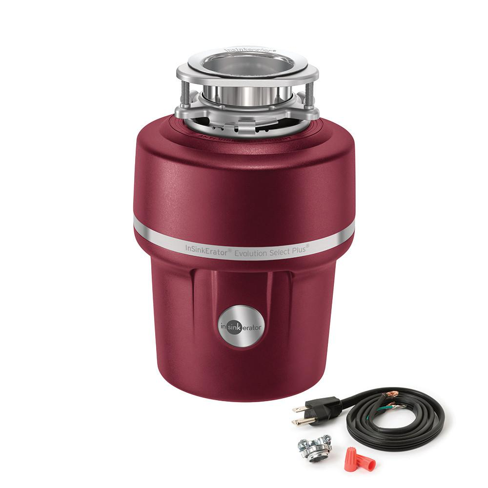 d970076c428 Evolution Select Plus 3 4 HP Continuous Feed Garbage Disposal with Power  Cord Kit Included
