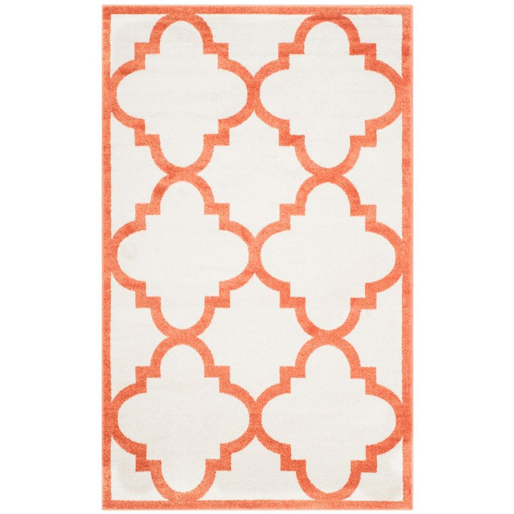 Amherst Beige/Orange 5 ft. x 8 ft. Indoor/Outdoor Area Rug