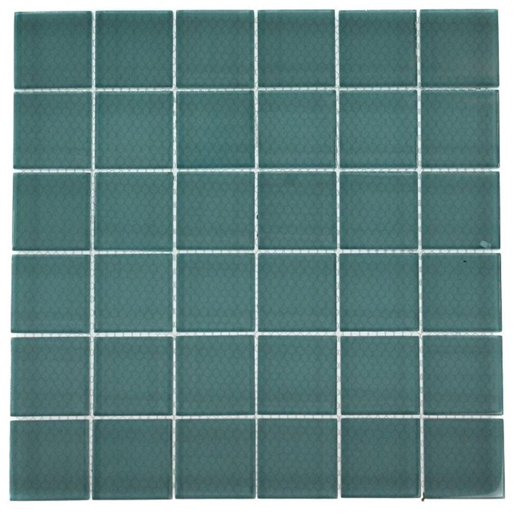 Contempo Turquoise 12 in. x 12 in. x 8 mm Frosted