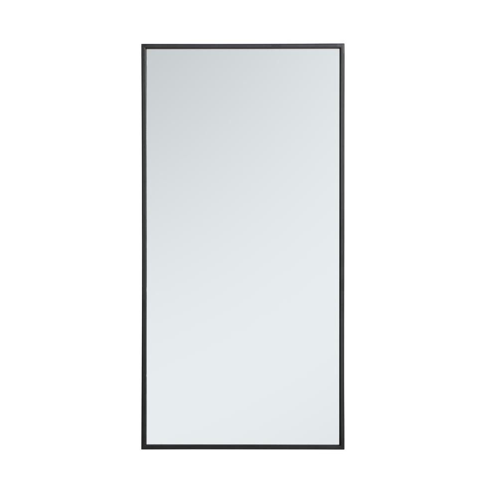 Medium Rectangle Black Modern Mirror (36 in. H x 18 in. W)