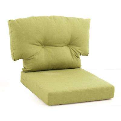 Charlottetown Green Bean Replacement 2-Piece Outdoor Lounge Chair Cushion