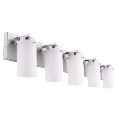 Olmia 5-Light Satin Nickel Bath Light