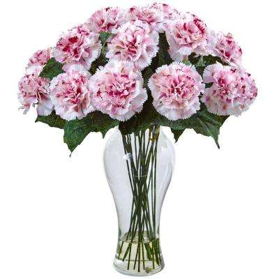 Magenta Carnation Arrangement with Vase