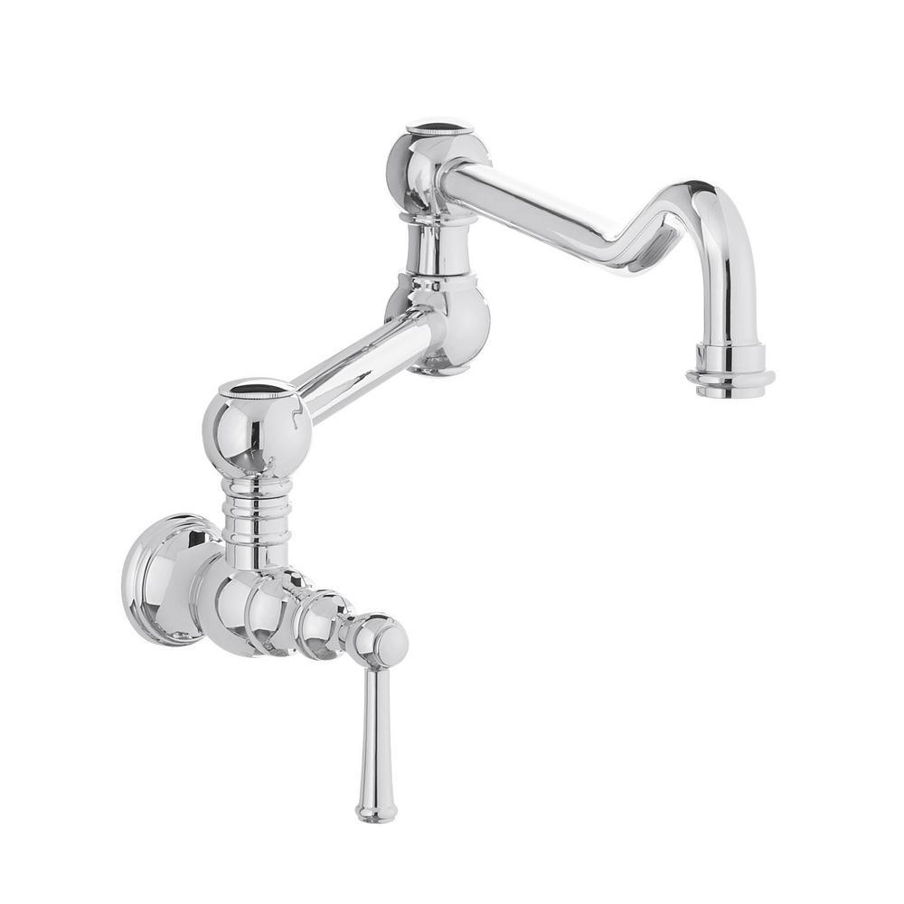 Lyndhurst Single-Handle Wall-Mount Pot Filler Faucet in Chrome