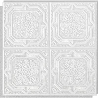 Wellington 1 ft. x 1 ft. Clip Up or Glue Up Fiberboard Ceiling Tile in White (40 sq. ft./case)