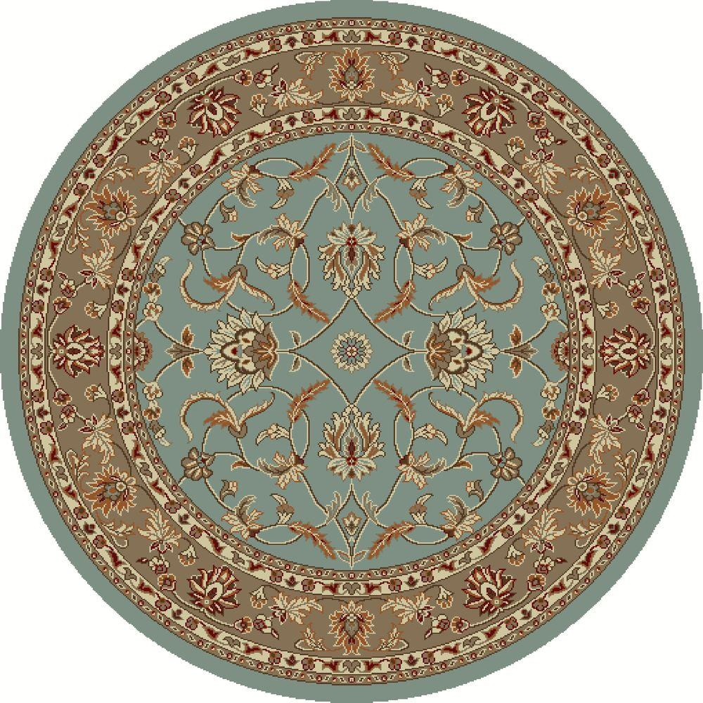 Chester Sultan Blue 8 ft. Round Area Rug