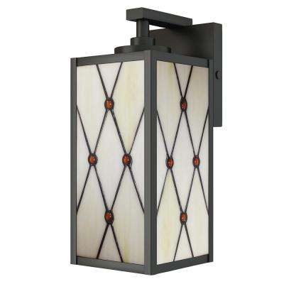 12.5in. Ory 1-Light Outdoor Oil Rubbed Bronze Wall Mount Sconce