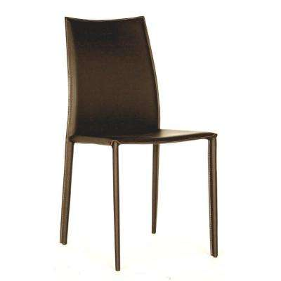 Rockford Brown Faux Leather Upholstered Dining Chairs (Set of 2)