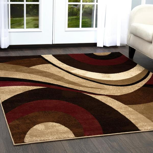 Home Dynamix Tribeca Brown Red 5 Ft X