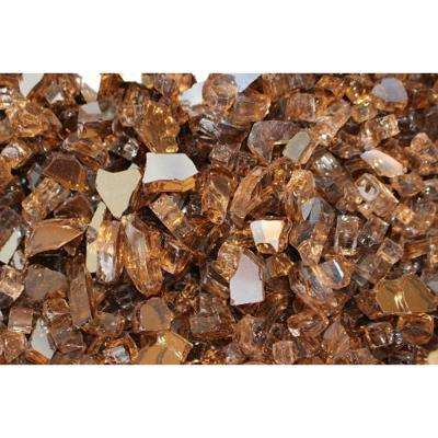 10 lbs. Bag Reflective Fire Pit Fire Glass in Copper