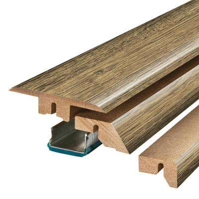 Natural Rebel Oak 3/4 in. Thick x 2-1/8 in. Wide x 78-3/4 in. Length Laminate 4-in-1 Molding
