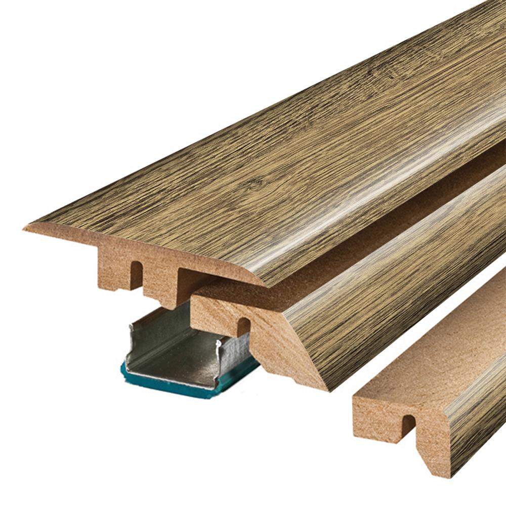 Pergo Natural Rebel Oak 3/4 in. Thick x 2-1/8 in. Wide x 78-3/4 in. Length Laminate 4-in-1 Molding