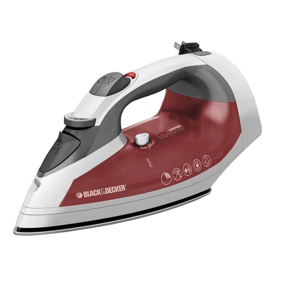 BLACK+DECKER Cord Reel Stainless Steel ASO Steam Iron Surge-DISCONTINUED