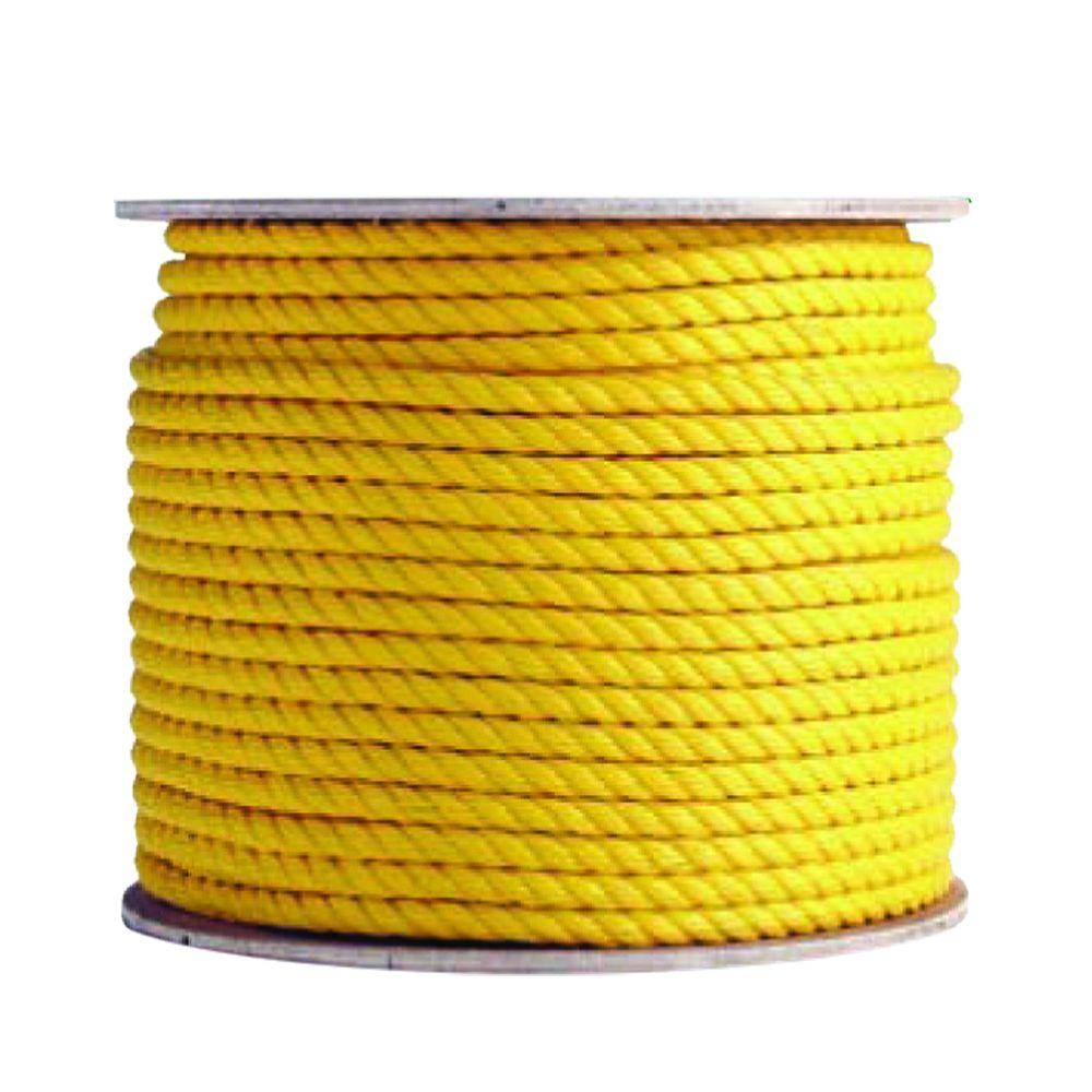 3/8 in. x 1200 ft. Polypropylene Yellow Rope, Yellows/Golds