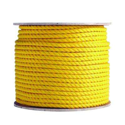 1/2 in. x 1200 ft. Polypropylene Rope, Yellow