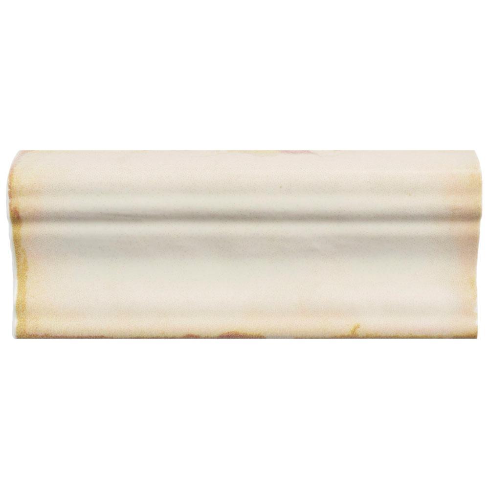 Merola Tile Archivo 2 in. x 4-3/4 in. Ceramic Moldura Wall ...