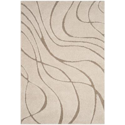 Florida Shag Cream/Beige 6 ft. x 9 ft. Area Rug