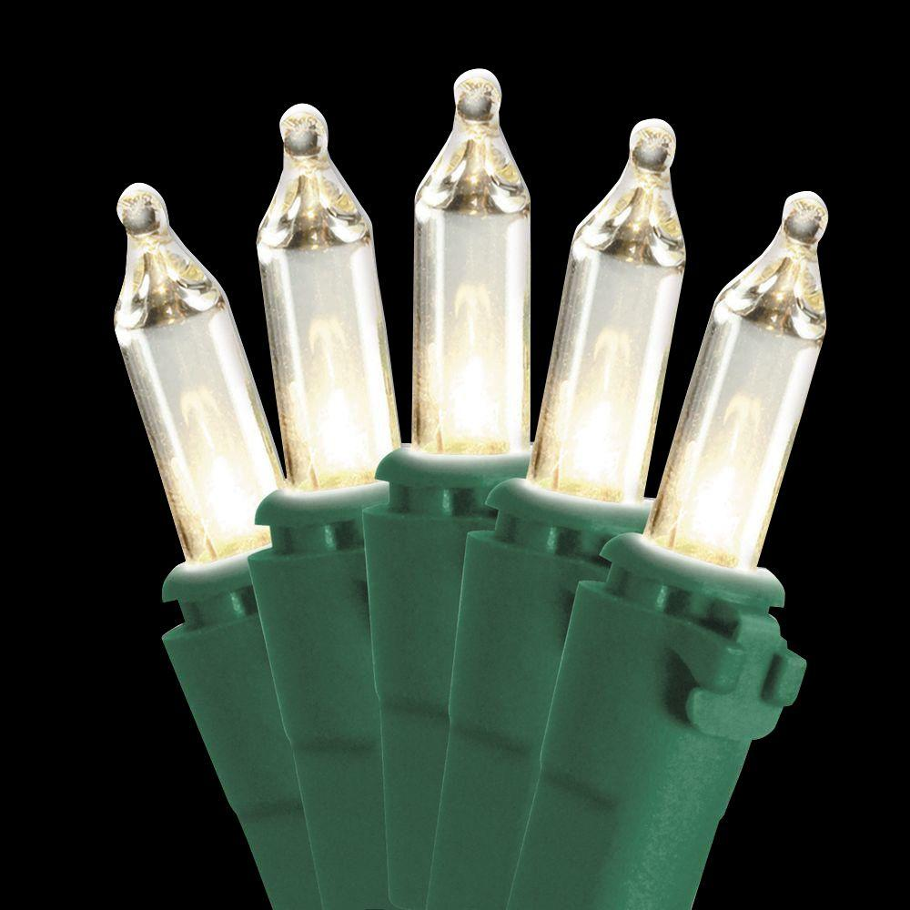 National Tree Company 50-Light Ready Lit Clear Bulb String Light Set