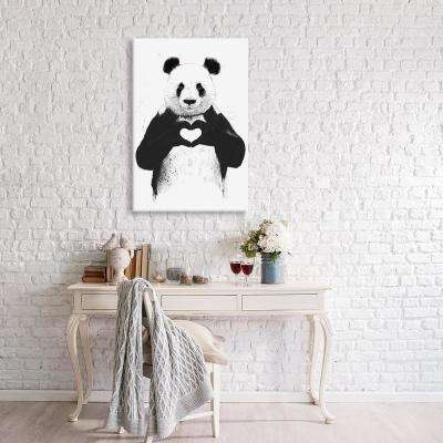 26 in. x 18 in. All You Need Is Love by Balazs Solti Canvas Print