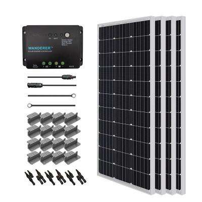 400-Watt 12-Volt Monocrystalline Solar Starter Kit for Off-Grid Solar System