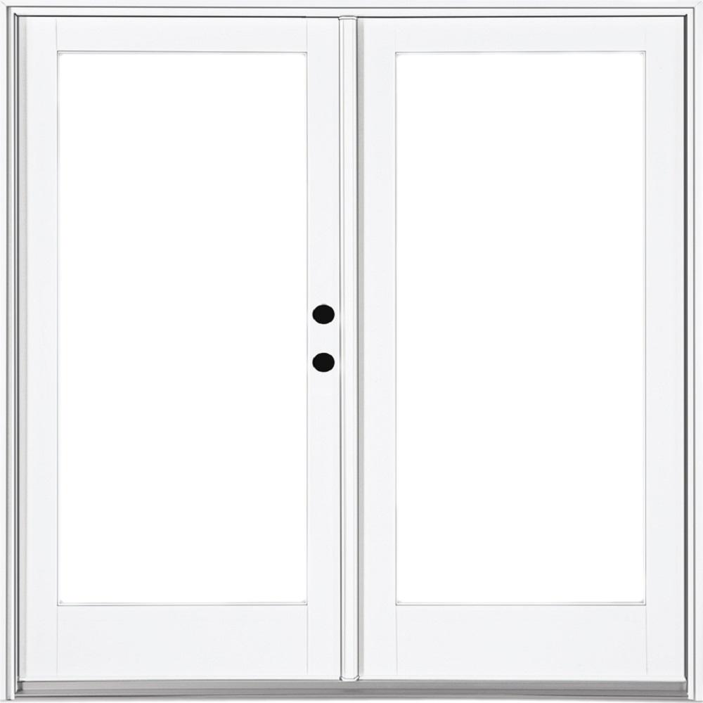 Mp doors 72 in x 80 in fiberglass smooth white left hand - Installing prehung exterior door on concrete ...