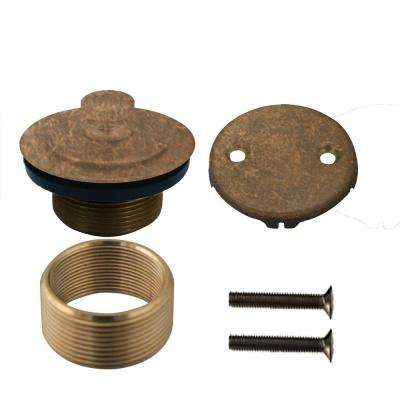 Universal Twist & Close Tub Waste Trim Kit in Tumbled Bronze