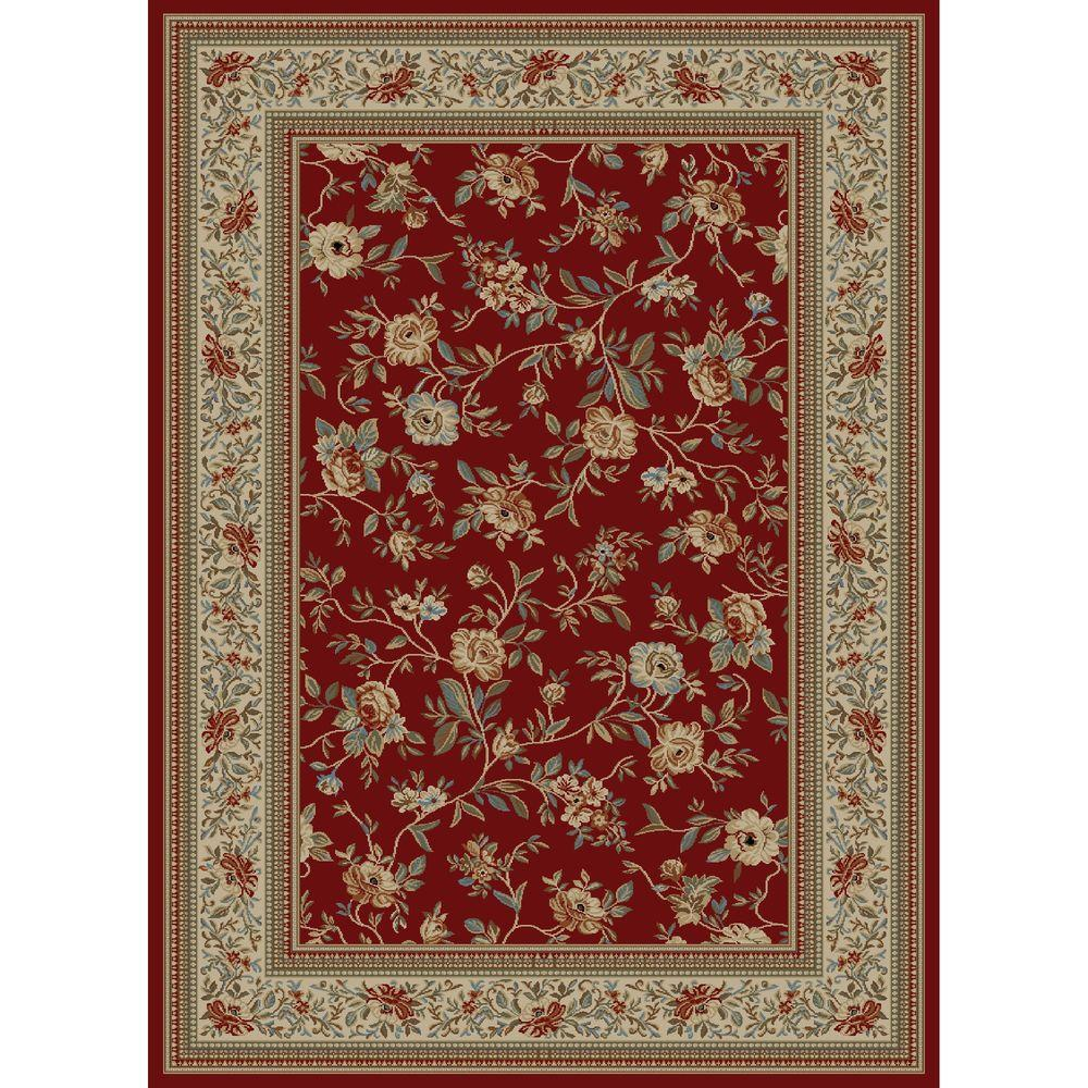 Ankara Floral Garden Red 3 ft. 11 in. x 5 ft.