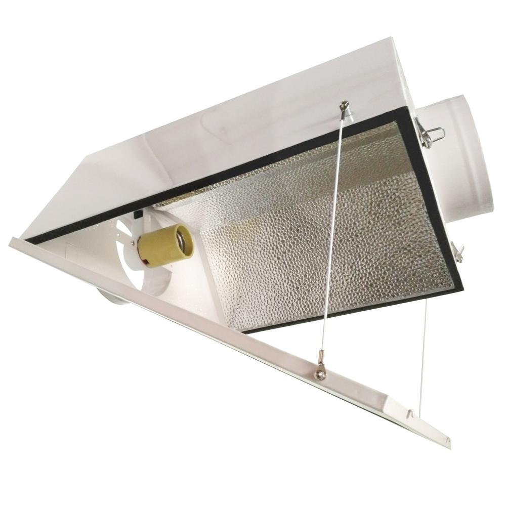 Hydro Crunch Large Air Cooled With 6 In Duct And Gl Panel Grow Light Reflector For Up To 1000 Watt