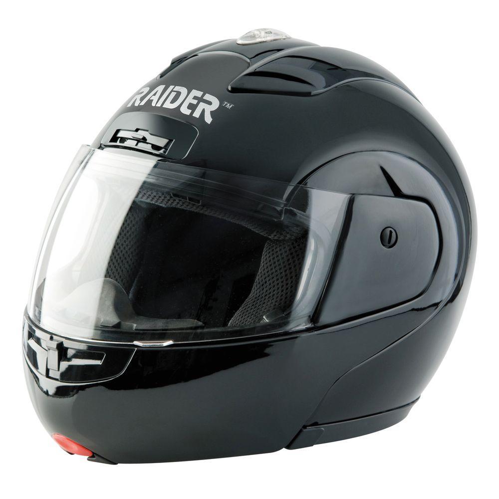 Large Black Modular Street Helmet