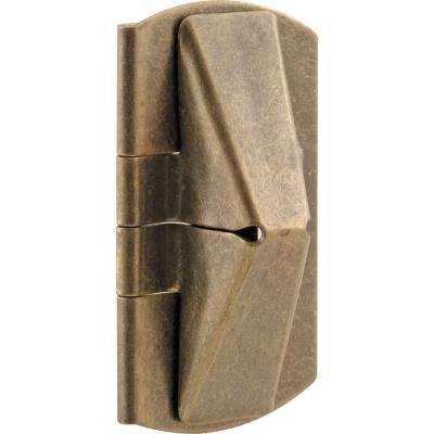 1 in. x 2 in. Stamped Steel Antique Brass Plated Finish Window Flip Lock (Pack of 2)