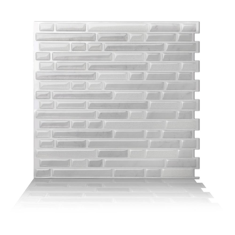 Tic Tac Tiles Como White 10 in. W x 10 in.