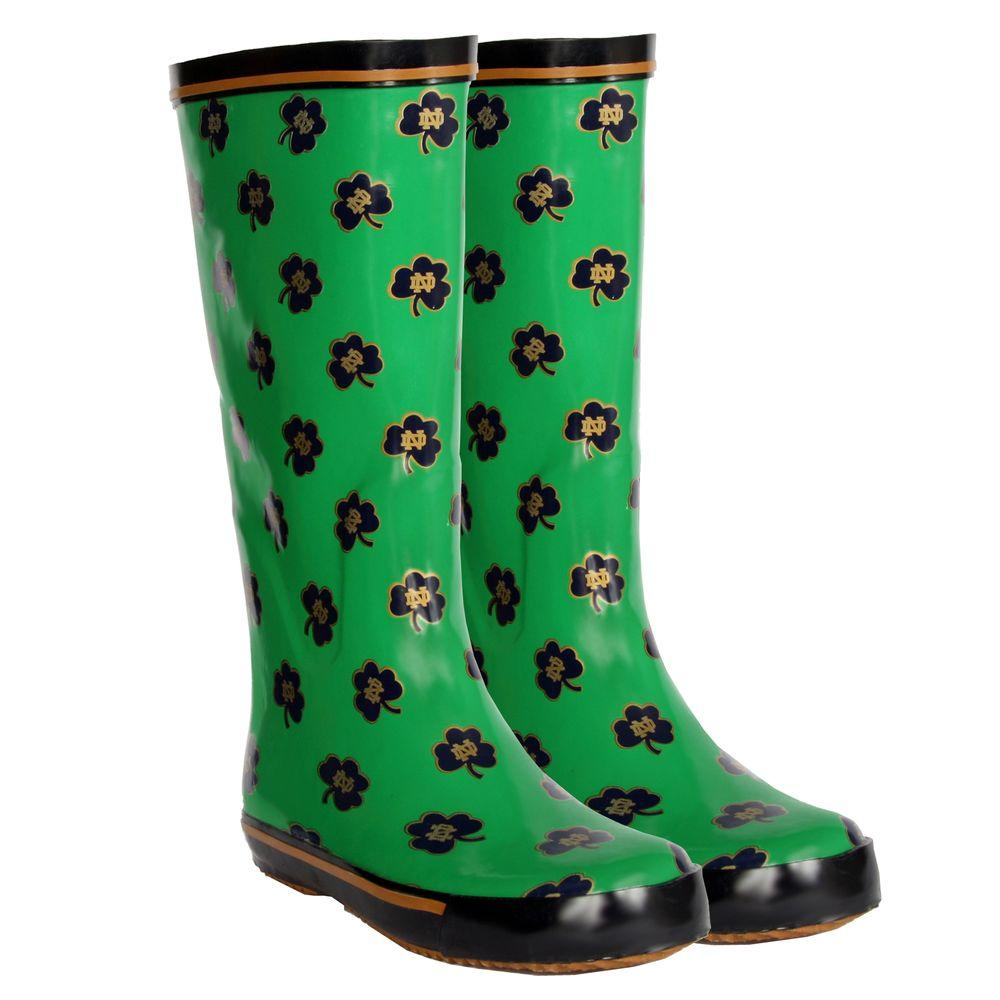 FANSHOES 12 in. Rubber NCAA Notre Dame Fighting Irish Team Boot Size 8-DISCONTINUED
