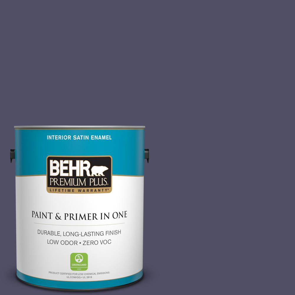 1 gal. #PPU16-19 Mardi Gras Zero VOC Satin Enamel Interior Paint