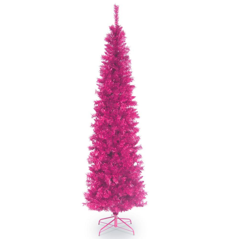 7 ft. Pink Tinsel Tree