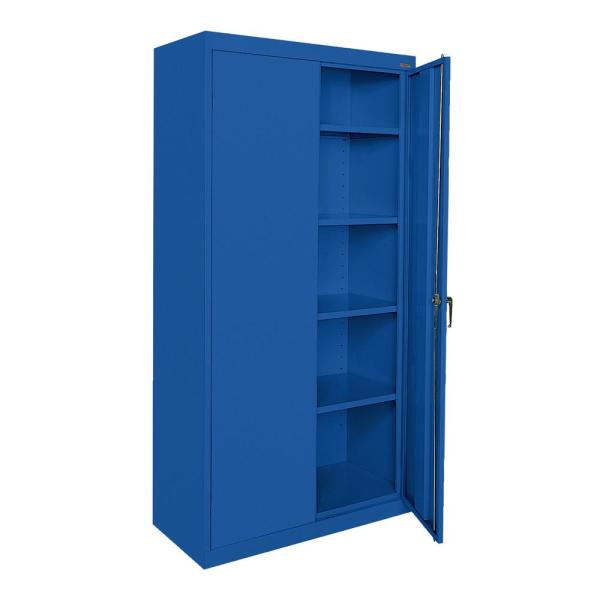 Classic Series 72 in. H x 36 in.W x 18 in. D Steel Freestanding Storage Cabinet with Adjustable Shelves in Blue