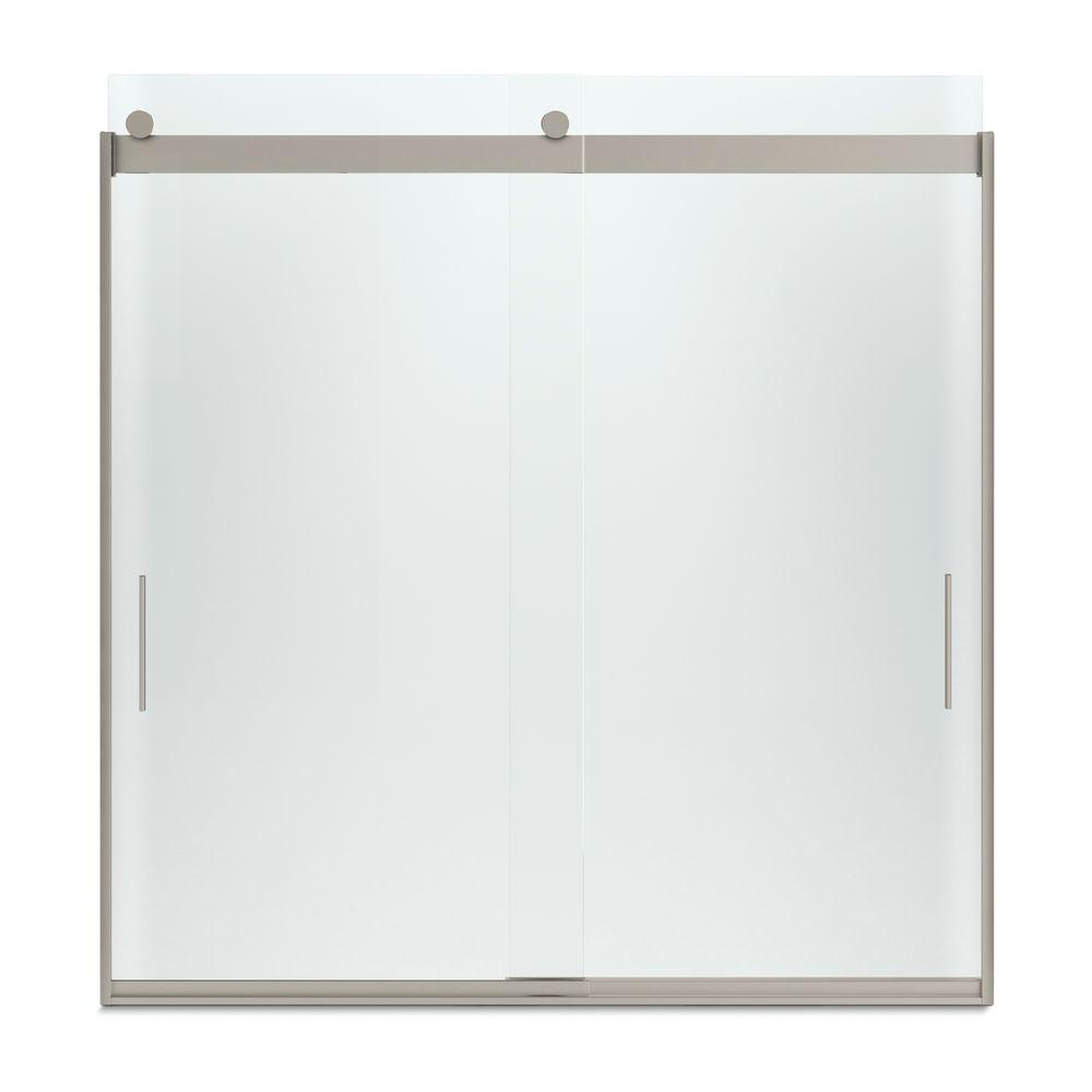 KOHLER Levity 59 in. x 62 in. Semi-Frameless Sliding Tub Door in ...