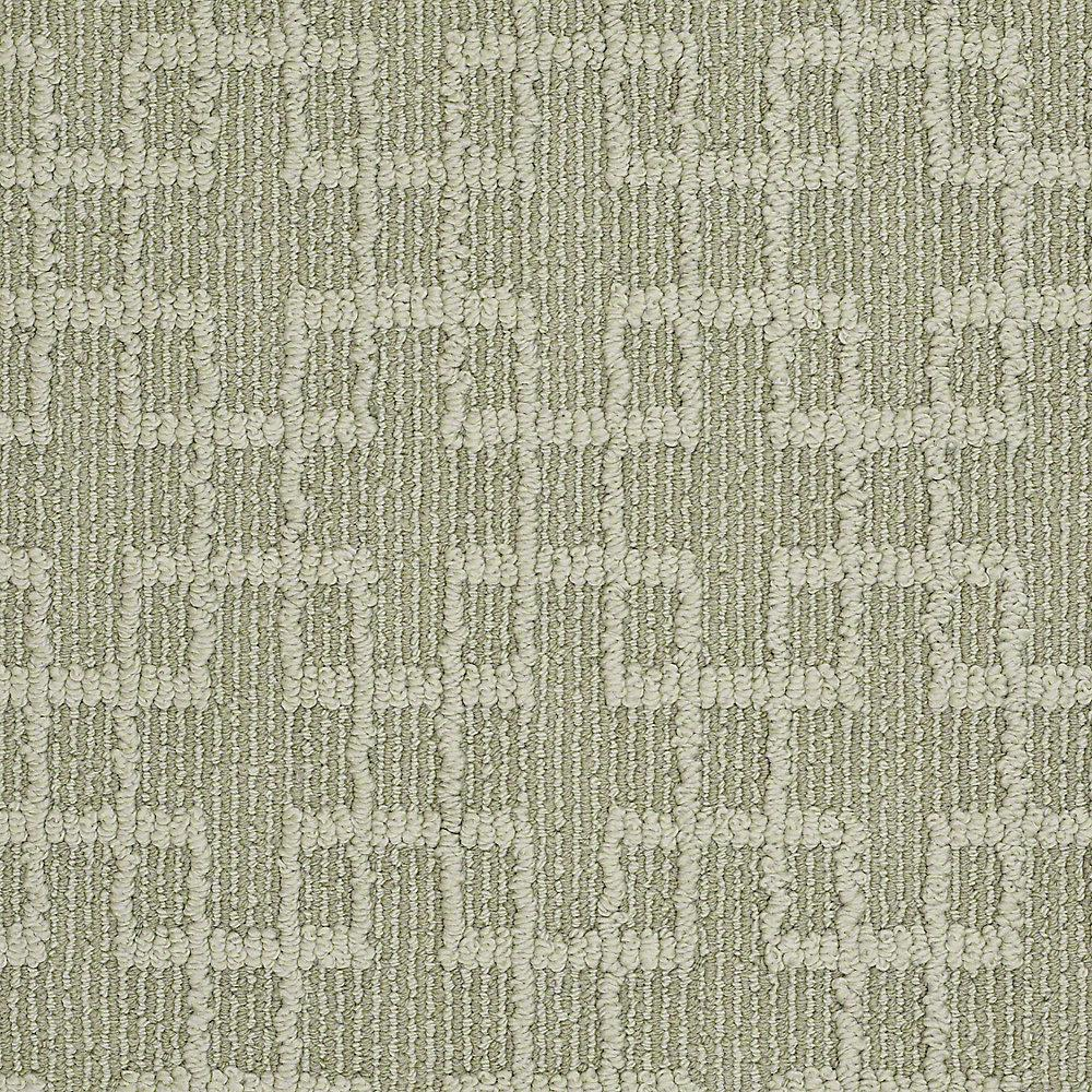 Quilted Dreams - Color New Green Pattern 12 ft. Carpet