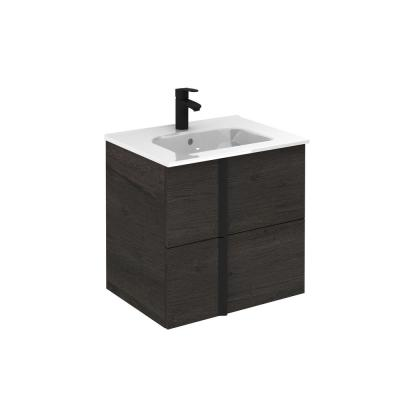 White Adventa Sink Wall Mounted in Resin for Outdoor 50 x 35 x 24 h