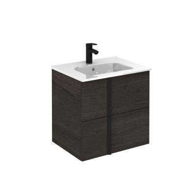 Onix 24 in. W x 18 in. D Bath Vanity in Essence Wenge with Vanity Top in White with White Basin