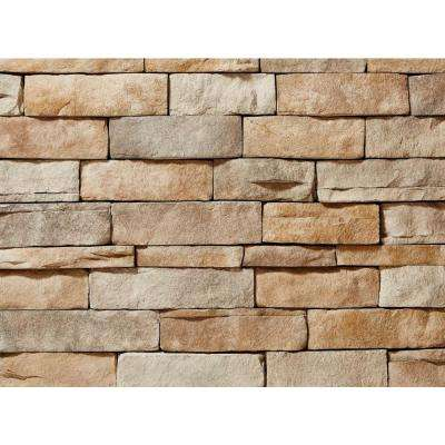 Ledgestone Tan Flats 26-3/4 in. x 16 in. 8 sq. ft. Manufactured Stone (25-Piece per Carton)