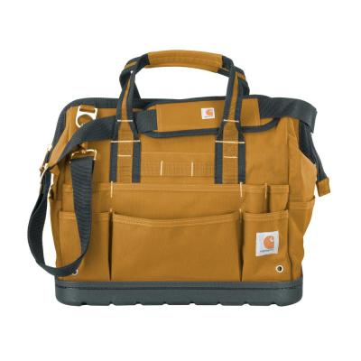 Legacy 16 in. Brown Tool Bag with Molded Base