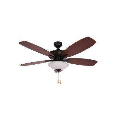 Alexis 52 in. Matte Black Ceiling Fan