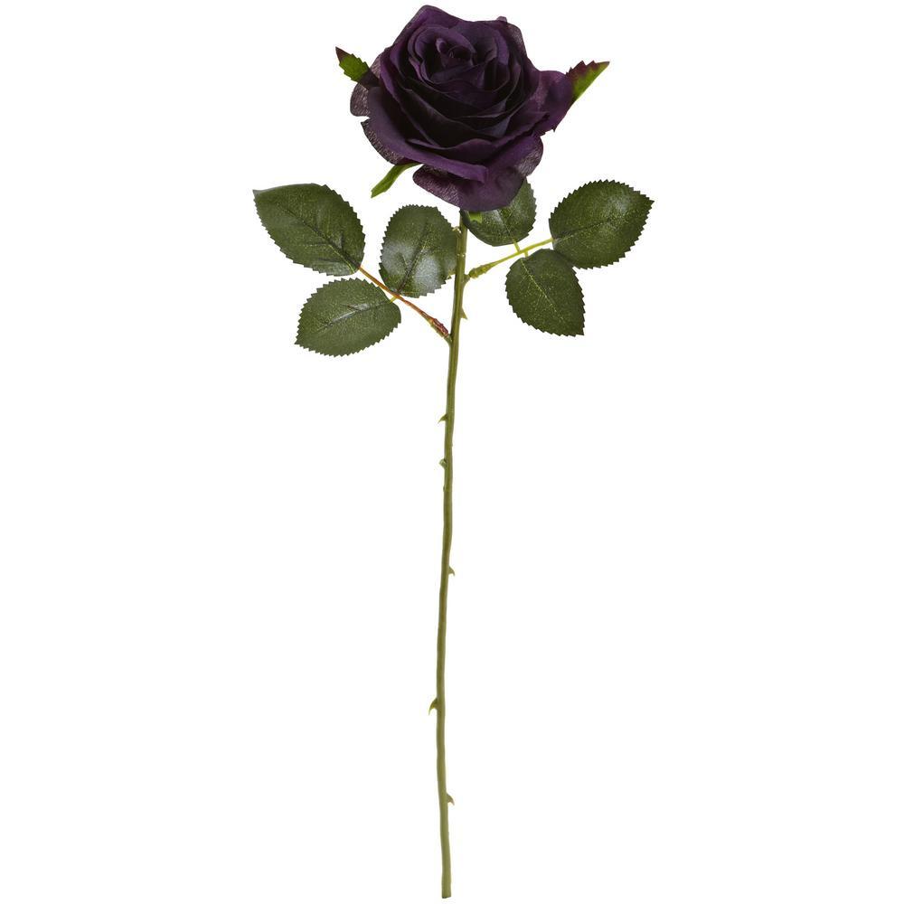 Indoor 18 in. Rose Artificial Flower (Set of 24)