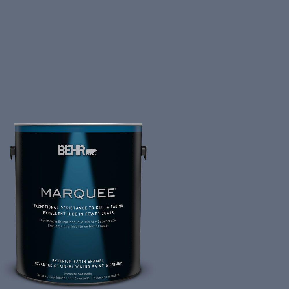 BEHR MARQUEE 1-gal. #BNC-29 Dark Room Satin Enamel Exterior Paint