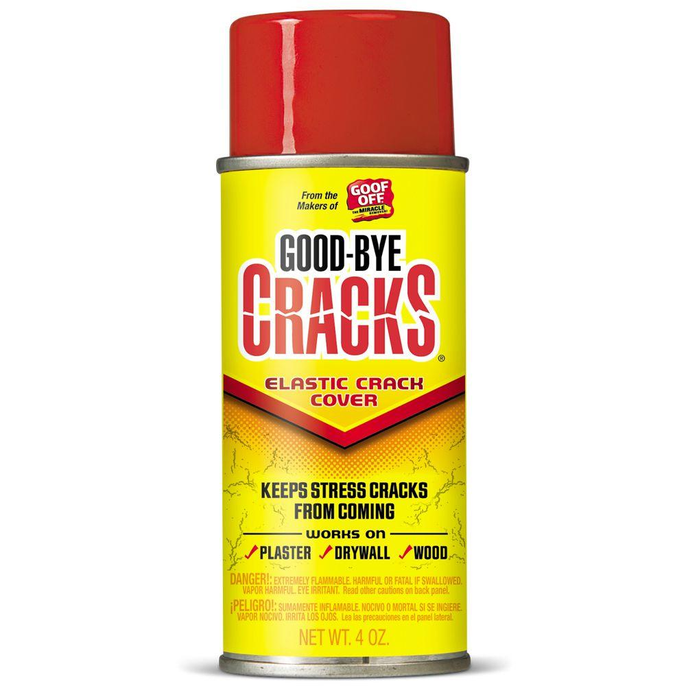 Spray On Plaster For Walls : Goof off oz goodbye cracks elastic crack cover spray