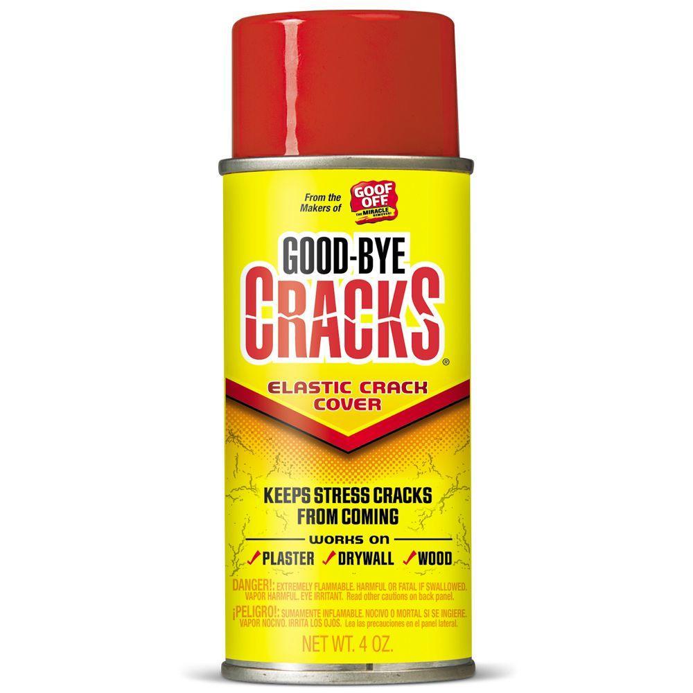 Goof Off 4 Oz Goodbye Cracks Elastic Crack Cover Spray Fg695 The