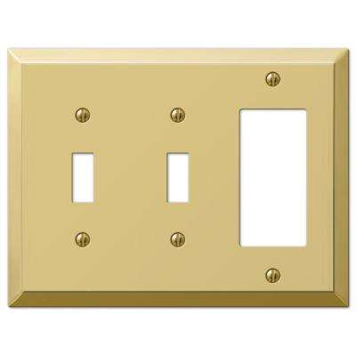 Century 2 Toggle 1 Decorator Wall Plate - Polished Brass