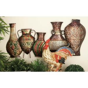 17 inch x 38 inch Iron Classic Jars and Vases Wall Decor by